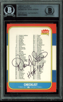 "David Stern Signed 1986-87 Fleer #132 Checklist 1-132 Inscribed ""HOF '14"" (BGS Encapsulated) at PristineAuction.com"