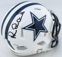 Michael Irvin Signed Cowboys Matte White Speed Mini Helmet (JSA COA) (See Description) at PristineAuction.com