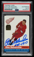 """Alex Delvecchio Signed 2002 Topps Archives 1954-55 Topps #39 Inscribed """"HOF 1977"""" (PSA Encapsulated) at PristineAuction.com"""
