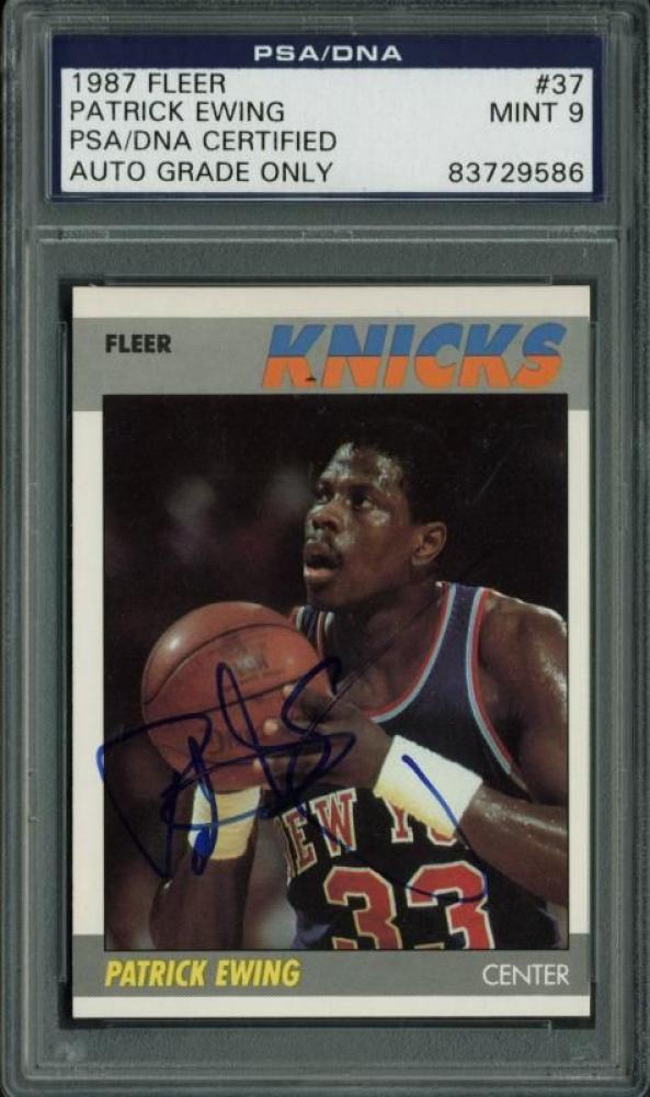Patrick Ewing Signed 1987-88 Fleer #37 (PSA Encapsulated) at PristineAuction.com