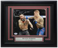 Dustin Poirier Signed UFC 8x10 Custom Framed Photo Display (PSA COA) at PristineAuction.com