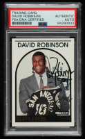David Robinson Signed 1993-94 Hoops #DR1 Commemorative 1989 Rookie Card (PSA Encapsulated) at PristineAuction.com