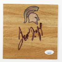 Tom Izzo Signed Michigan State Spartans 6x6 Floor Piece (JSA COA) at PristineAuction.com