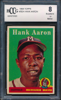 Hank Aaron 1958 Topps #30A (BCCG 8) at PristineAuction.com