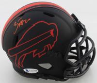 Zack Moss Signed Bills Eclipse Alternate Speed Mini Helmet (Beckett COA) at PristineAuction.com