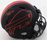 Zack Moss Signed Bills Full-Size Eclipse Alternate Speed Helmet (Beckett COA) at PristineAuction.com