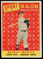 Mickey Mantle 1958 Topps #487 All Star TP at PristineAuction.com