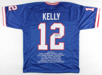 Jim Kelly Signed Career Highlight Stat Jersey (JSA COA) at PristineAuction.com