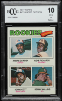 Andre Dawson / Gene Richards / John Scott / Denny Walling 1977 Topps #473 Rookie Outfielders RC (BCCG 10) at PristineAuction.com