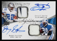 Barry Sanders / Emmitt Smith / Gale Sayers / LaDainian Tomlinson 2009 Exquisite Collection Signature Patch Quad #SSTS at PristineAuction.com