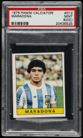 Diego Maradona 1979-80 Panini Caliciatori Stickers #312 (PSA 9) (OC) at PristineAuction.com