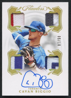 Cavan Biggio 2020 Panini Flawless Quad Patch Signatures Gold #6 - #QPS-CB - #05/10 at PristineAuction.com