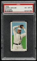 Harry Krause 1909-11 T206 #264 / Pitching (PSA 6) at PristineAuction.com