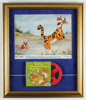 "1973 Walt Disney's ""Winnie the Pooh and Tigger Too"" 18x21 Custom Framed Movie Theatre Lobby Card Display with Vintage 8mm Film at PristineAuction.com"