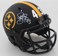Troy Polamalu Signed Steelers Eclipse Alternate Speed Mini-Helmet (Beckett COA) at PristineAuction.com