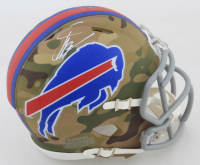Stefon Diggs Signed Bills Camo Alternate Speed Mini-Helmet (Beckett COA) at PristineAuction.com