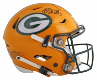 Davante Adams Signed Packers Full-Size Authentic On-Field SpeedFlex Helmet (Beckett COA) at PristineAuction.com