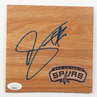 DeMar DeRozan Signed Spurs 6x6 Floor Piece (JSA COA) at PristineAuction.com