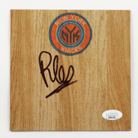 RJ Barrett Signed Knicks 6x6 Floor Piece (JSA COA) at PristineAuction.com