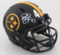 Troy Polamalu Signed Steelers Eclipse Alternate Speed Mini-Helmet (Beckett COA) at PristineAuction.com