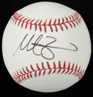 Mike Zunimo Signed OML Baseball (Beckett COA) (See Description) at PristineAuction.com