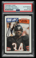 Walter Payton Signed 1987 Topps #46 (PSA Encapsulated) at PristineAuction.com