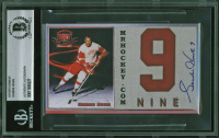 Gordie Howe Signed Red Wings Advertisement Cut (BAS Encapsulated) at PristineAuction.com