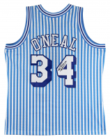 Shaquille O'Neal Signed 1996-97 Striped Lakers Swingman Jersey (Beckett COA) at PristineAuction.com