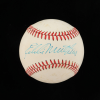 Eddie Mathews Signed ONL Baseball (Beckett COA) at PristineAuction.com
