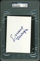 Emma Thompson Signed 4x6 Index Card (PSA Encapsulated) at PristineAuction.com