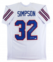 "O. J. Simpson Signed Jersey Inscribed ""HOF 85"" (JSA COA) at PristineAuction.com"