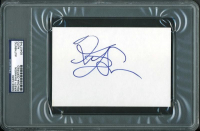 Kristy Swanson Signed 4x6 Index Card (PSA Encapsulated) at PristineAuction.com