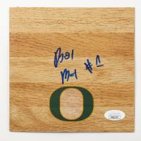 Bol Bol Signed Oregon Ducks 6x6 Floor Piece (JSA COA) at PristineAuction.com