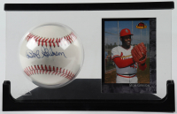 Bob Gibson Signed Official League Baseball with Trading Card & Display Case (Beckett COA) at PristineAuction.com