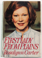 """Rosalynn Carter Signed """"First Lady From Plains"""" Hardcover Book (Beckett COA & PSA COA) (See Description) at PristineAuction.com"""