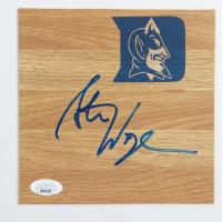 Steve Wojciechowski Signed Duke Blue Devils 6x6 Floor Piece (JSA COA) at PristineAuction.com