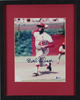 Bob Gibson Signed Cardinals 12x15 Custom Framed Photo Display (Beckett COA) (See Description) at PristineAuction.com