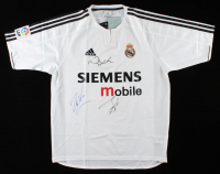 David Beckham, Raul Blanco, & Roberto Carlos Signed Real Madrid CF Jersey (JSA LOA) (See Description) at PristineAuction.com