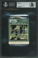 Adam Scott Signed 2013 Masters Badge (BAS Encapsulated) at PristineAuction.com