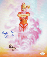 "Barbara Eden Signed ""I Dream of Jeannie"" 9.75x11.75 Print Inscribed ""Jeannie"" (JSA COA) at PristineAuction.com"
