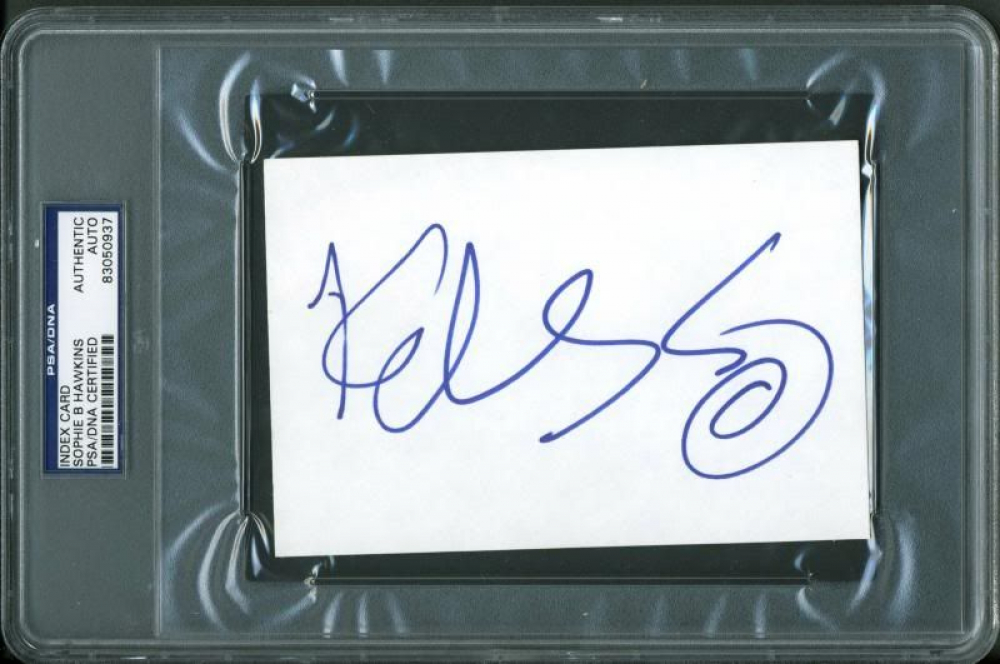 Sophie B. Hawkins Signed 4x6 Index Card (PSA Encapsulated) at PristineAuction.com