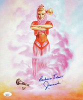 "Barbara Eden Signed ""I Dream of Jeannie"" 9.75x11.75 Print Inscribed ""Jeannie"" (JSA COA) at PristineAuction.com"