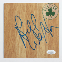 Bill Walton Signed Celtics 6x6 Floor Piece (JSA COA) at PristineAuction.com
