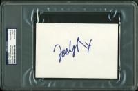 Joely Richardson Signed 4x6 Index Card (PSA Encapsulated) at PristineAuction.com