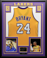 Kobe Bryant 34.5x42.5 Custom Framed Jersey Display at PristineAuction.com