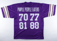 """""""Purple People Eaters"""" Jersey Signed by (4) with Alan Page, Carl Eller, Gary Larsen & Jim Marshall (Beckett COA) at PristineAuction.com"""