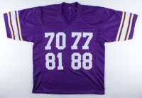 """Purple People Eaters"" Jersey Signed by (4) with Alan Page, Carl Eller, Gary Larsen & Jim Marshall (Beckett COA) at PristineAuction.com"