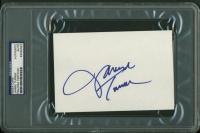 Janine Turner Signed 4x6 Index Card (PSA Encapsulated) at PristineAuction.com