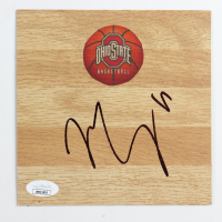Mike Conley Signed Ohio State Buckeyes 6x6 Floor Piece (JSA COA) at PristineAuction.com
