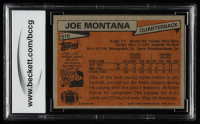 Joe Montana 1981 Topps #216 RC (BCCG 7) at PristineAuction.com